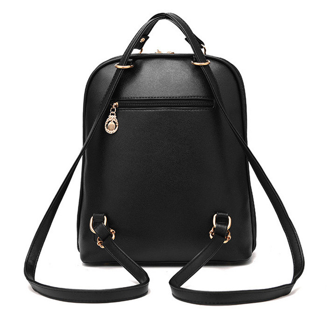 Female School Bags For Girls Backpacks For Women Bag Travel Shoulder Bags sac a main PU Leather Backpack 3