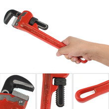 Maxpower 1pc 14 Inches Heavy Duty Adjustable Straight Pipe Wrench Car Water Repair Tool Flexible Spanner Clamp
