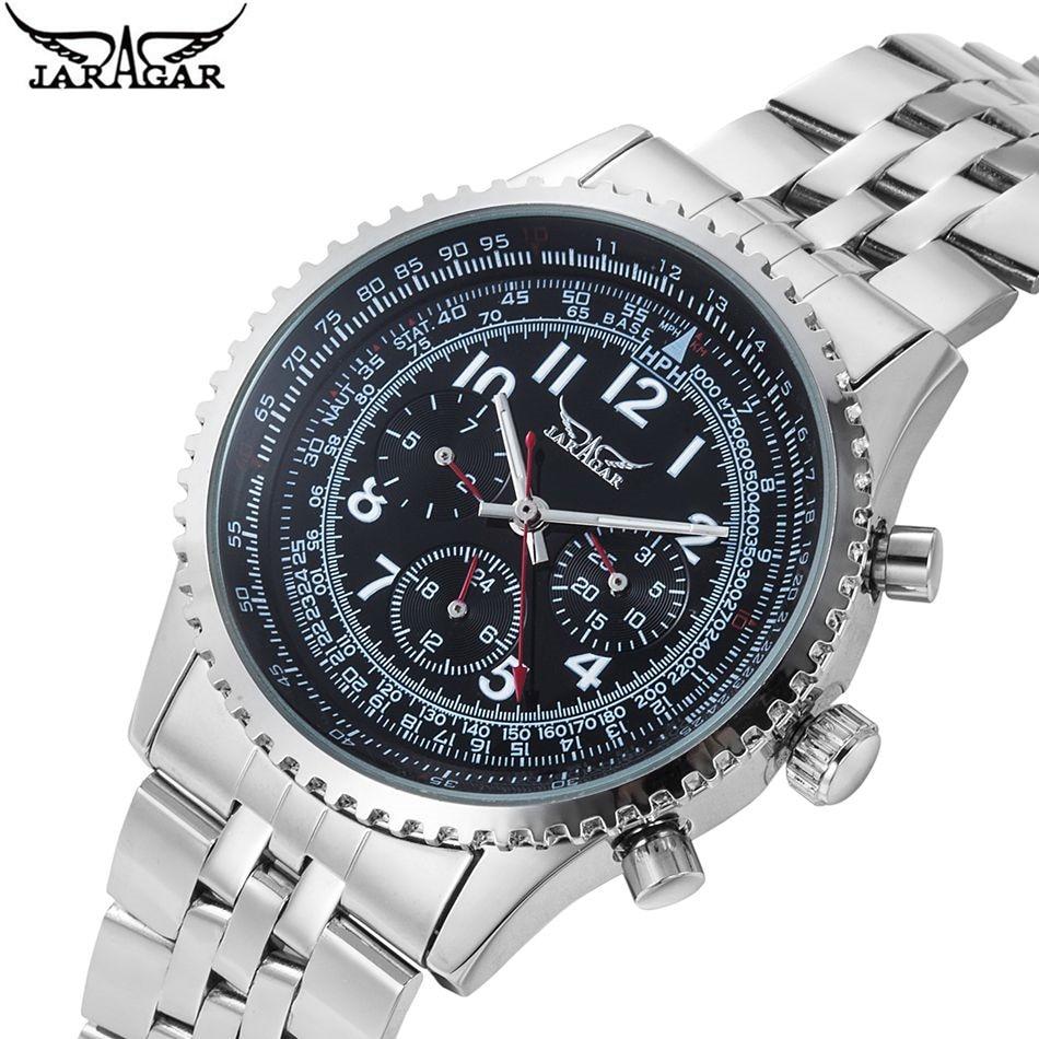 JARAGAR Luxury font b Watch b font 6 Hand Automatic Mechanical font b Watches b font