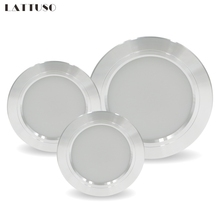 LED Downlight Tavan gümüş 5W 9W 12W 15W 18W Sıcak beyaz/Soğuk beyaz LED ışık AC 220V 230V 240V