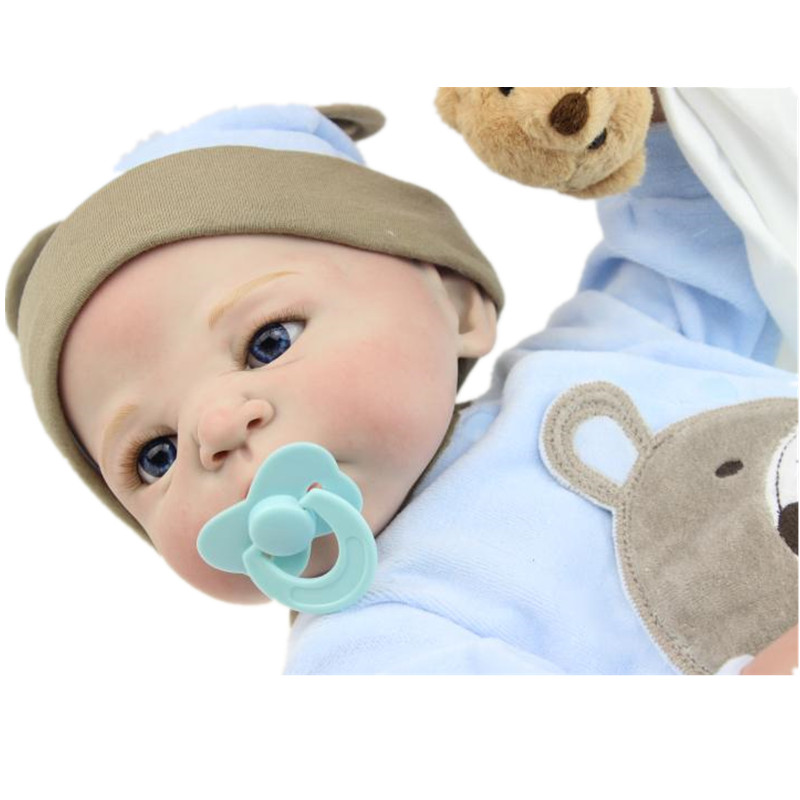 23 inch Lifelike Reborn Baby Full Body Soft Silicone Vinyl Real Realistic Simulation victoria Doll Toys Big Dolls 58CM 2016 Gift