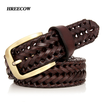 Buckle Woven Knitted  Belts For jeans