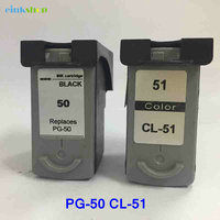 Remanufactured PG 50 CL 51 Ink Cartridge pg50 for Canon Pixma MP160 MP170 MP150 mp450 MP180 iP2200 iP6210D MP150 MP460 pg 50