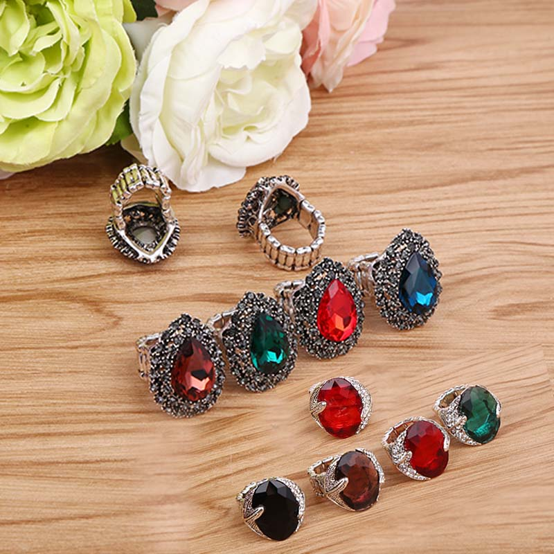 12pcs Retro Silver Color/black Bohemia Stone Brooch Scarf Clips Women Hijab Scarf Buckle broches ring clips para as mulhere 12pcs retro silver color black bohemia stone brooch scarf clips women hijab scarf buckle broches ring clips para as mulhere