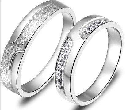 Argent 925 anneaux de mariage anneaux paramètres hommes anneau taille 7 échantillon 925 Lada hommes 925 Sterling argent