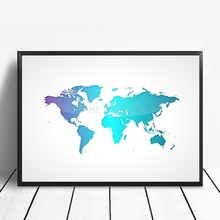 Buy poster map world and get free shipping on aliexpress posters and prints colorful cartoon world map poster canvas painting wall art pictures for living room gumiabroncs Images