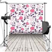 Floral Wall Vinyl Photography Background Backdrop For Wooden Floor Photo New Fabric Flanne Background For Photo Studio 1125