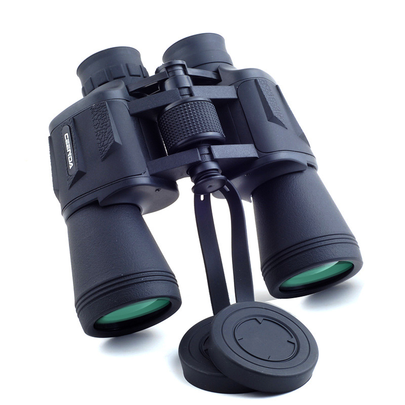 20x50 High magnification long range zoom hunting telescope Binoculars HD Professiona High power HD Low light night vision 60mm 15x magnification hd telescope w glimmer night vision black