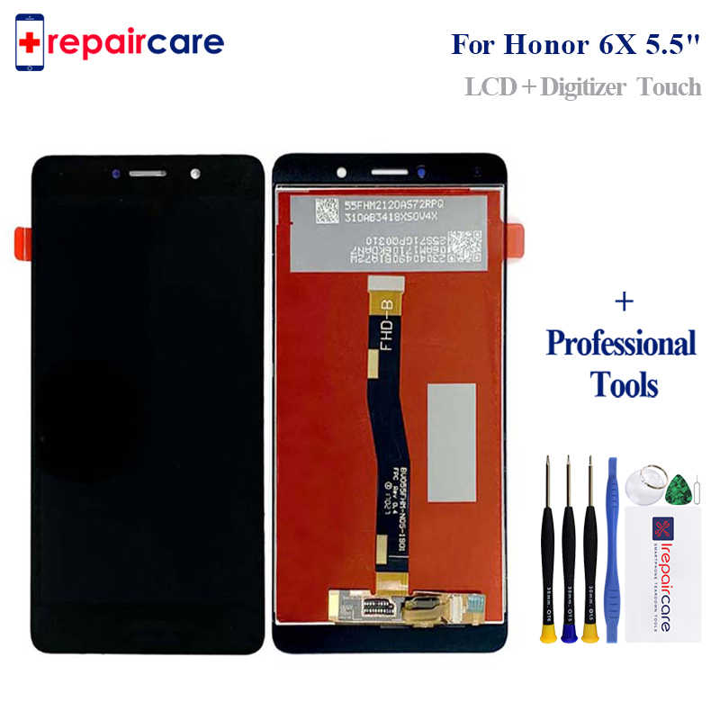 Para Huawei Honor 6X LCD Screen Display Toque Digitador Assembléia Para Huawei Honor 6X LCD Com Substituição do Quadro