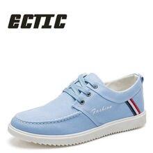 ECTIC 2018 새로운 패션 남자 캐주얼 신발 통기성 남자 운동 화 레이스 업 플랫 신발 여름 편안한 캔버스 신발 DD-016