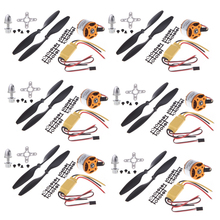 6set/lot A2212 1000KV Brushless Outrunner Motor +30A ESC+1045 Propeller(1 pair) Quad-Rotor Set for RC Aircraft Multicopter