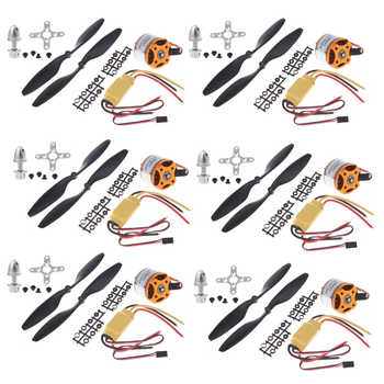 6set/lot A2212 1000KV Brushless Outrunner Motor +30A ESC+1045 Propeller(1 pair) Quad-Rotor Set for RC Aircraft Multicopter - DISCOUNT ITEM  10% OFF All Category
