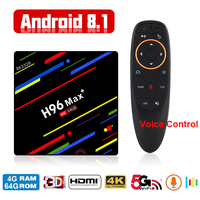 Global Android Smart TV Box Voice Remote Google Assistant RK3328 4G 64G TV Receiver 4K Wifi Media Player Play Store Set Top Box