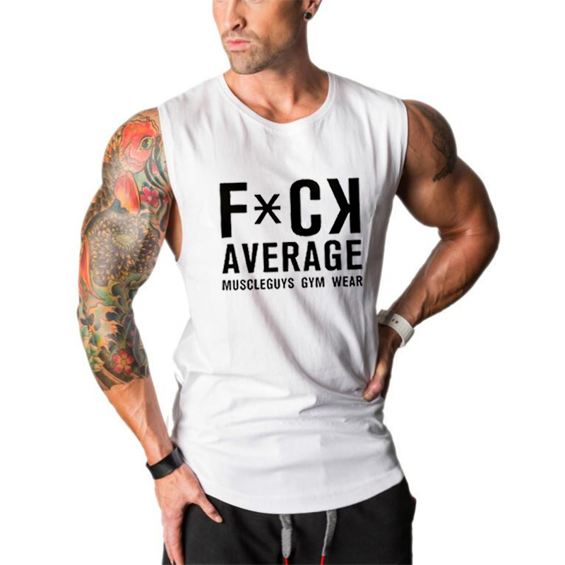 Brand Clothing Men's   Tank     Top   Tees Sleeveless Shirts Soft Undershirts Fitness Stringers Singlets Workout shirts Muscle Vest