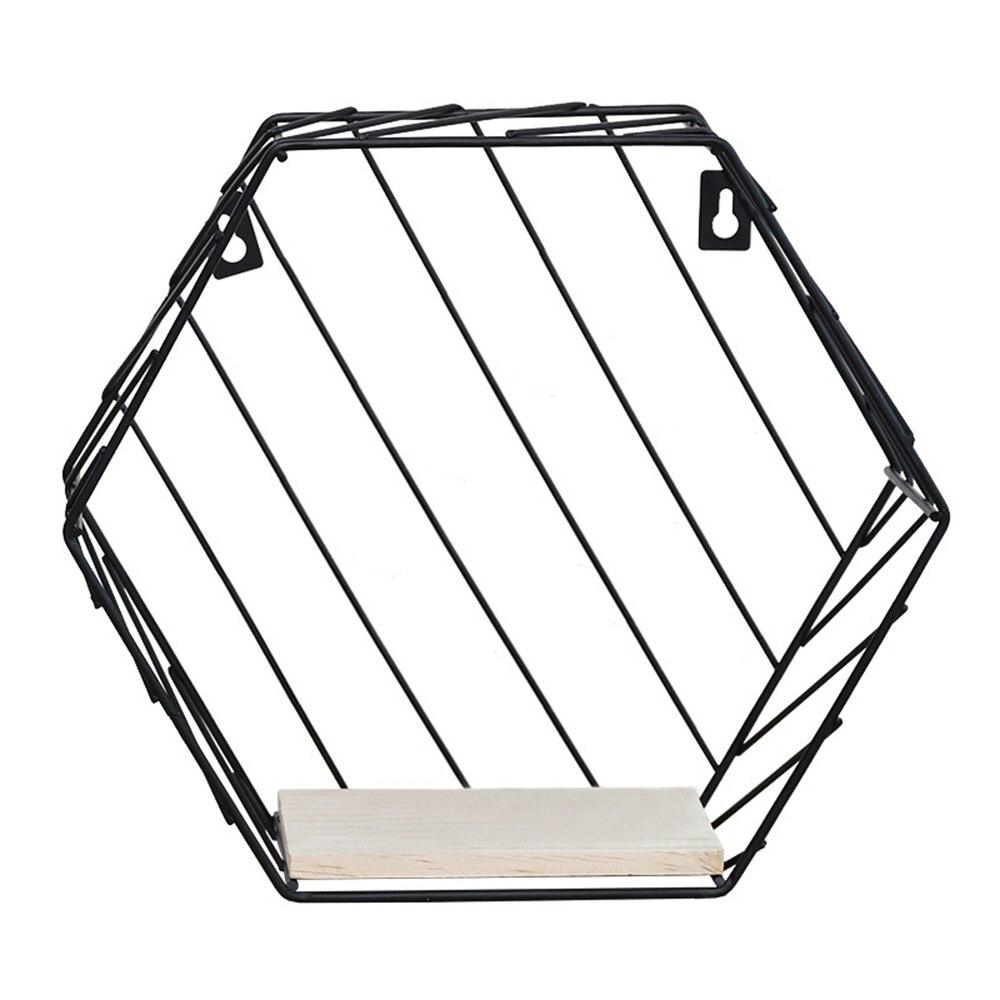 0e61a62fd6 8. Nordic Hexagonal Storage Rack Creative Wall Mounted Organizer ...