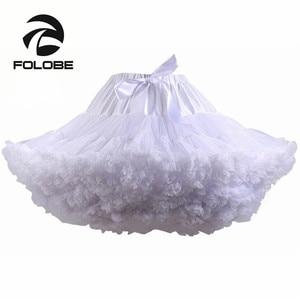 Image 1 - Frauen Tutu Kostüm Ballett tanzkleid White Puffy Rock Erwachsenen Luxuriöse Weiche Chiffon Petticoat Tüll Tutu TT004