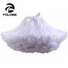 Kadın Tutu Kostüm Bale Dans Beyaz Kabarık Etek Yetişkin Lüks Yumuşak Şifon Petticoat Tül Tutu Etek TT004