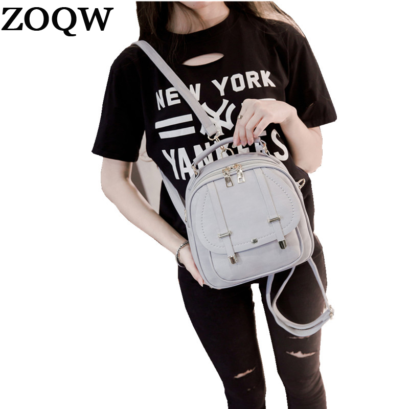 Fashion Women Mini Backpack Black Pu Leather Backpack Female Small Backpacks For Girls Shoulder Bags Sac A Dos Zoqw Wyq282