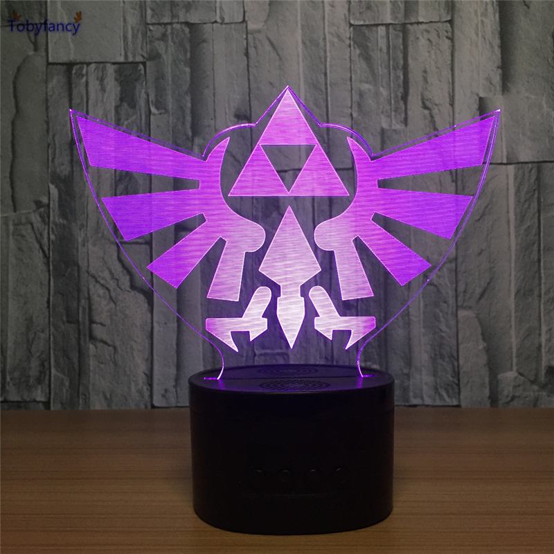 Tobyfancy The Legend of Zelda LED Table Lamp Creative 3D USB Link Figure Touch Illusion Light