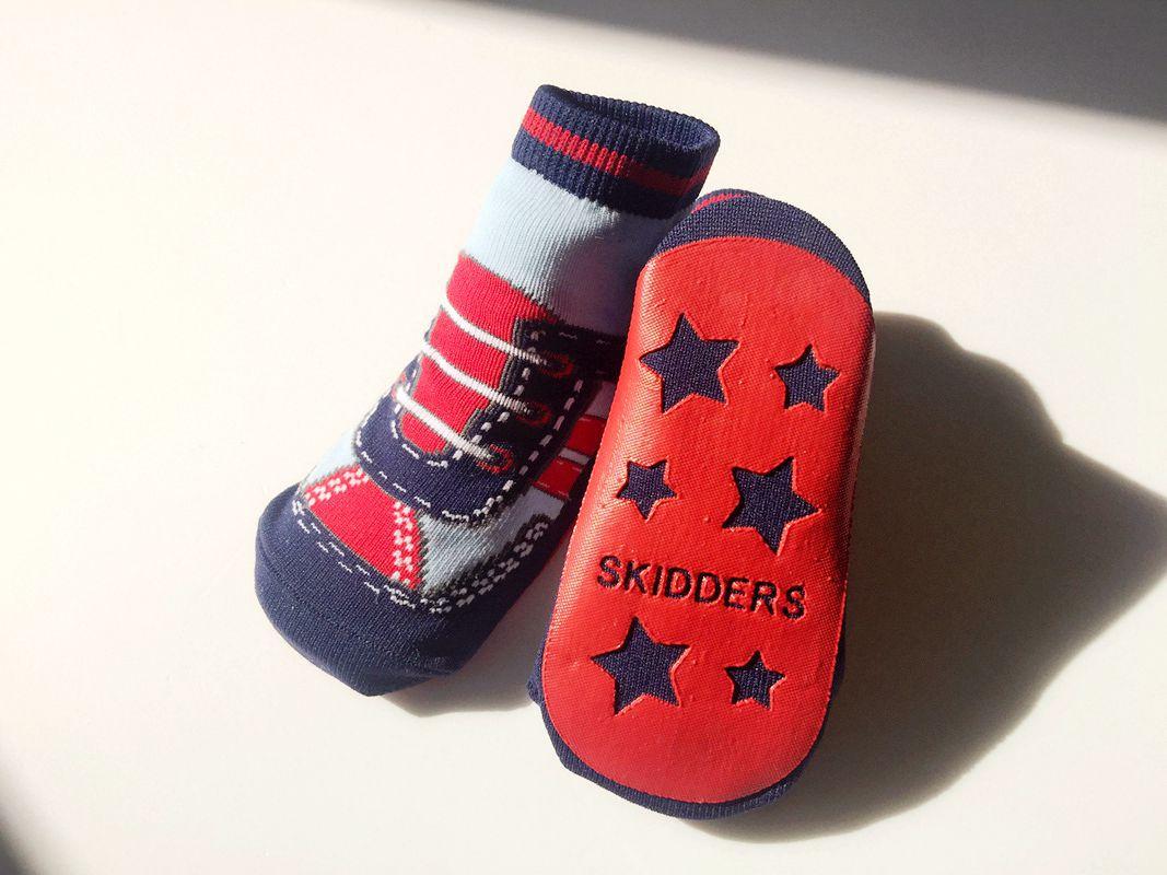 Newborn Toddle Baby Girls Boys Fashion Sports Shoes Kids Floor Socks Antiskid Walking Socks