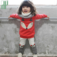 Girls Winter Clothes 2PCS Cartoon Fox Children Clothing Sets Top Pants Toddler Girl Tracksuit Kids Sport