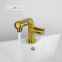Luxury Bathroom Faucet Fast Shipping Deck Mounted Basin Sink Golden Polished Faucet Single Lever Vanity Sink Mixer Water Tap