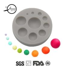 Atekuker половина мяч силиконовые формы для шоколада 3D инструменты для украшения тортов из мастики форма для полимерной глины