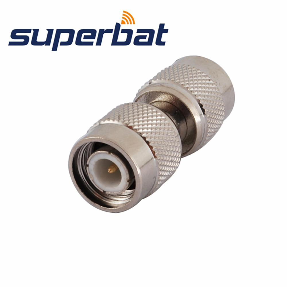 Superbat RF Coaxial Connector TNC Adapter TNC Male Plug To Plug Straight