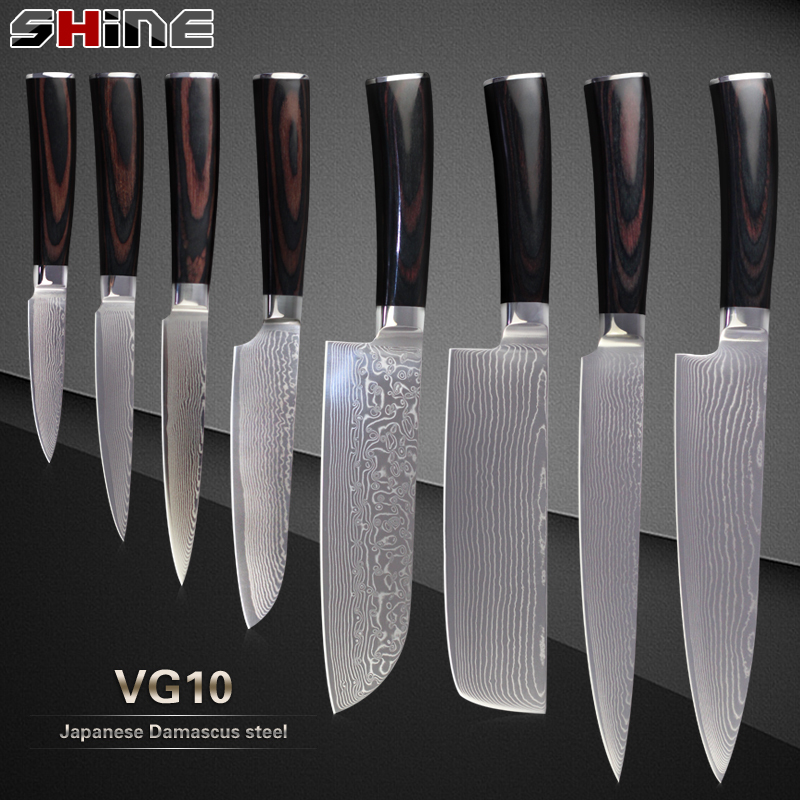 Xyj Damascus Knives Japanese Vg10 Damascus Steel Core
