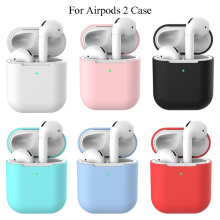 For AirPods 2 Silicone Soft Case Cover Protective Skin For Apple Airpod 2 Charging Case Headphone Ultra Thin Protector Case