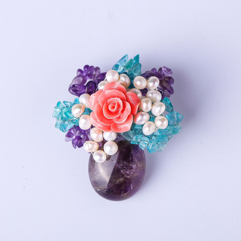 True pearls peony corsage roses highgrade crystal rhinestone big brooch naturall needles retro accessories female free shipping 2016 trendy fabric blooming peony flower corsage brooch woman hair decorations