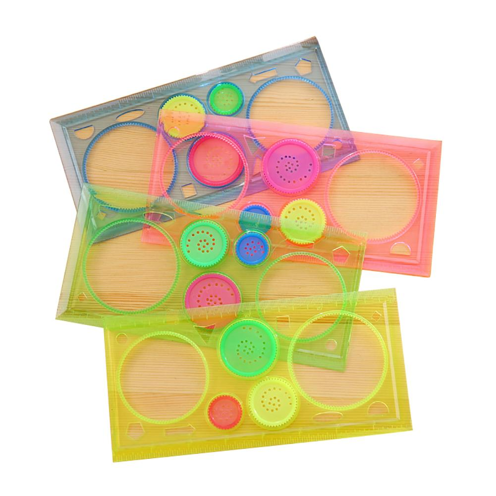 1PC Spirograph Multifunctional Geometric Ruler Drafting Tools Stationery Students Drawing Toys Supplies Hot Sale