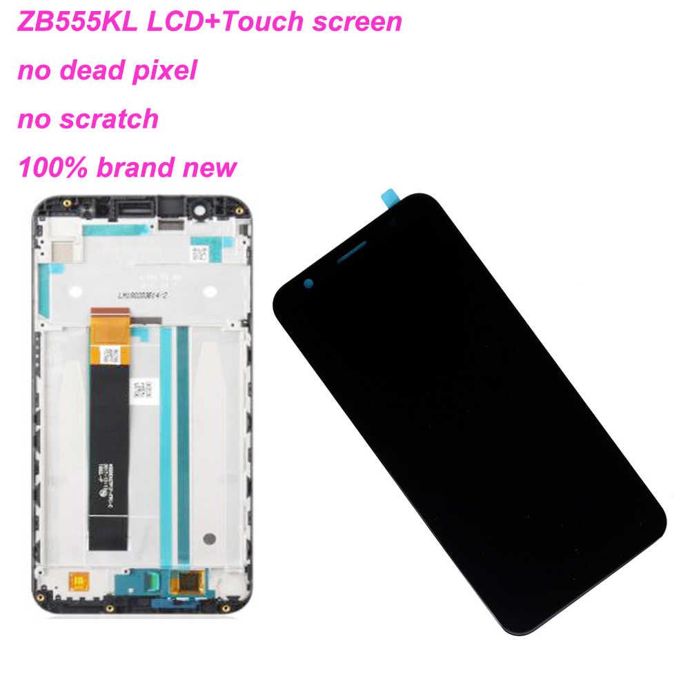 Starde 5.5 ''Asus Zenfone 5 最大 M1 ZB555KL 液晶ディスプレイパネルのタッチスクリーンデジタイザガラスセンサーアセンブリフレーム部品