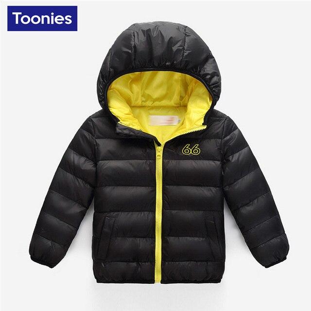 2017 New Brand Hooded Kids Girls Boys Winter Coat Long Sleeve WindProof Children Fashion Warm Down Coat Outwear