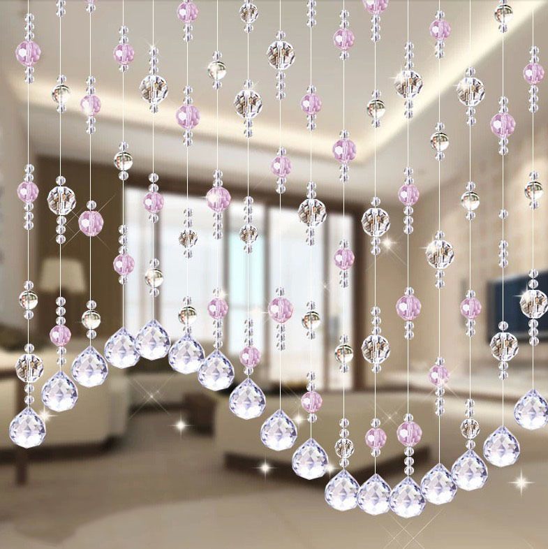 Wedding party home decorations arylic crystal beads rope decor wedding party home decorations arylic crystal beads rope decor curtain hanging screen on wall door inside 1 meter beads in blinds shades shutters from junglespirit Choice Image