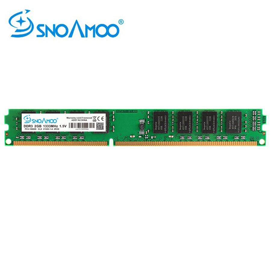 SNOAMOO Новый DDR3 4 Гб 1600 МГц PC3-12800S настольных ПК памяти 240pin 2 Гб 1333 МГц DIMM для Intel компьютер пожизненная Гарантия