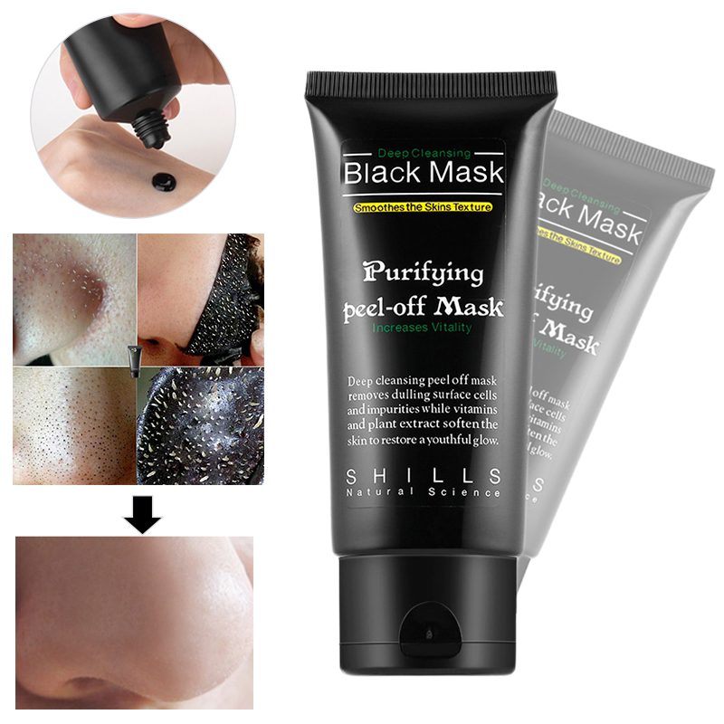 Black Mask Facial Mask Nose Blackhead Remover Peel Off Black Head Acne Treatments Deep Clean Face Care Facial Masks TSLM1
