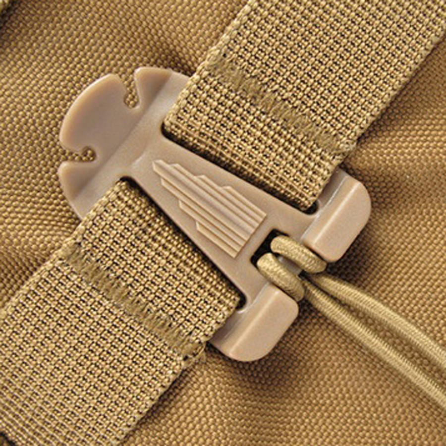 100pcs/lot EDC camping equipment MOLLE Style Outdoor Travel Kits Webbing Military Dominator Elastic Cord Hang Buckle Clip FW005
