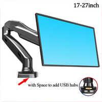 Soporte para Monitor de escritorio NB F80 soporte de escritorio soporte de Monitor giratorio de movimiento completo resorte de Gas para 17 ''-27'' soporte de Monitor carga 2-6,5 kg