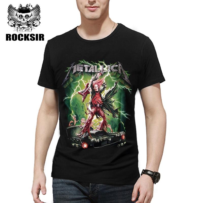 Rocksir 2017 Men's T Shirt The METALLICA Heavy Metal Funny