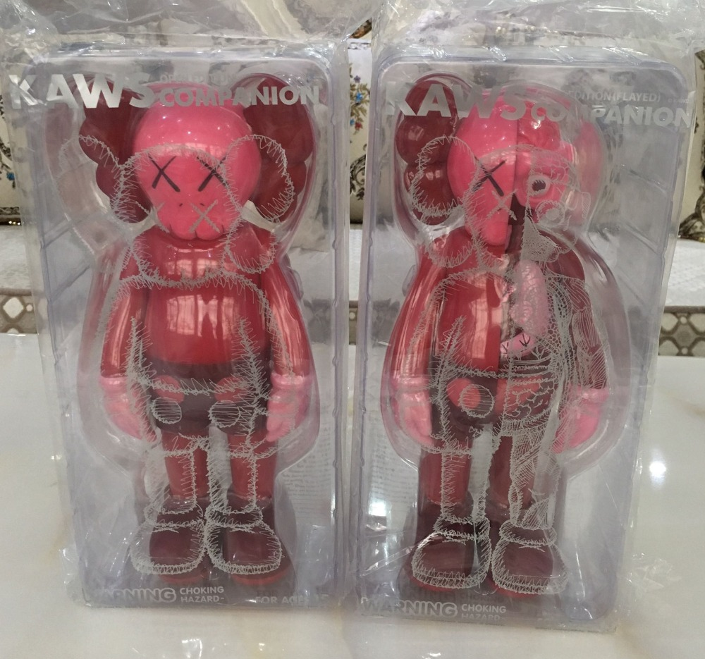 Edition Red 11 Inch Originalfake KAWS Dissected Companion Open Edition Art Fashion Toy Original Fake With Retail Box Decoration free shiping by spsr 1 set of chinese edition original octonauts oktopod splelset figure toy with original box child toys