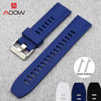 18mm 20mm 22mm 24mm Silicone Strap Quick Release Rubber Sport Waterproof Bracelet Band for Samsung Galaxy Watch Gear S2 S3