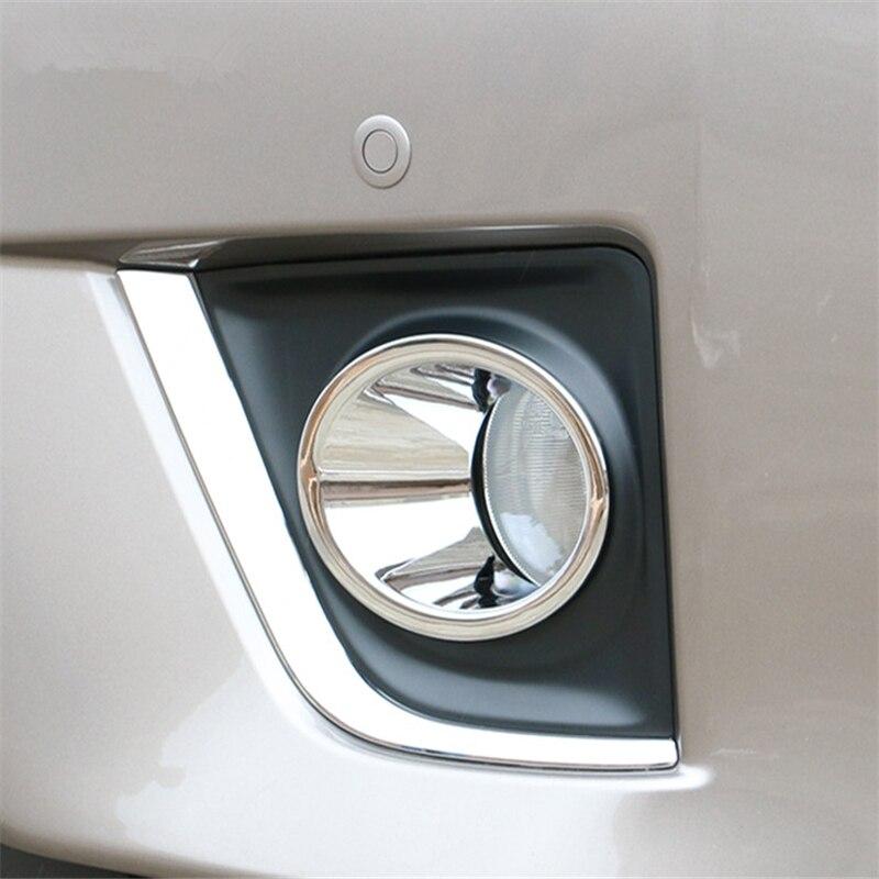 WELKINRY car cover auto styling Pour Toyota Corolla Altis E170 2013 2014 2015 2016 2017 ABS chromé tête avant feu de brouillard lumière garniture dans Chrome Styling de Automobiles et Motos