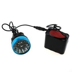 8.4 V 10T6 rower lekka latarka czołowa 20000 lumenów 10 xCree XM-L T6 rower latarka + 12000 mah 18650 akumulator + ładowarka + tylne światło