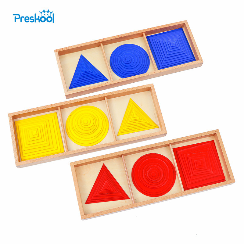 Baby Toy Montessori Circles Squares Triangles Sensory Early Childhood Education Preschool Training Kids Brinquedos Juguetes kids toy montessori colorful lock box early learning childhood kindergarten montessori education preschool training kid juguetes
