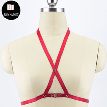 Sexy Lingerie Goth-Harness Fetish-Wear Gothic-Top Cosplay Cage-Bra Suspender-Belt Bondage