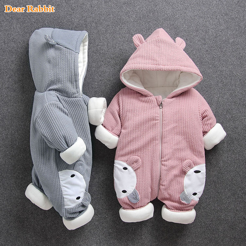 2108 New Russia Baby costume   rompers   Clothes cold Winter Boy Girl Garment Thicken Warm Comfortable Pure Cotton coat jacket kids