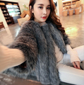 2016 New import High quality  women Fashion Winter Women Fur vest Luxurious High Quality artificial Fox Fur Coat new color