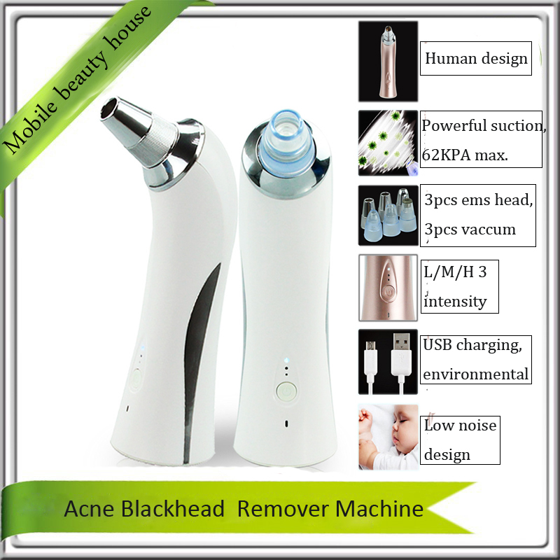 Mini Diamond Microdermabrasion Blackhead Suction Facial Deep Cleansing Blackhead Acne Pores Remover Skin Lifting Beauty Machine portable diamond microdermabrasion deep pores cleansing skin peeling exfoliating nose blackhead removal face beauty machine
