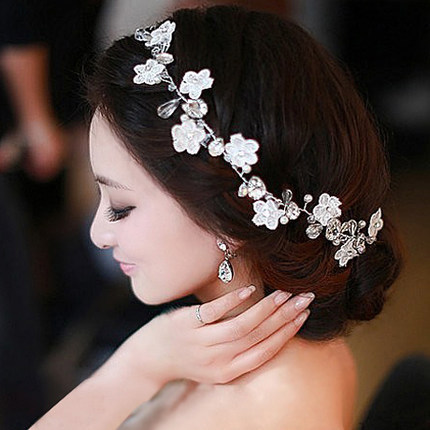 Hecho a mano de encaje flor diadema de pelo de las mujeres adornos simples  boho perla boda pelo banda coreano boda ornamento del pelo en Joyería del  pelo de ... 2087f367a3e9